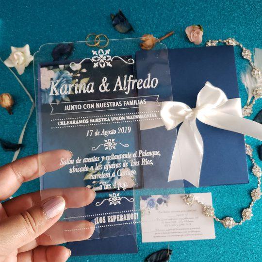 Invitación Acrílica LB RT