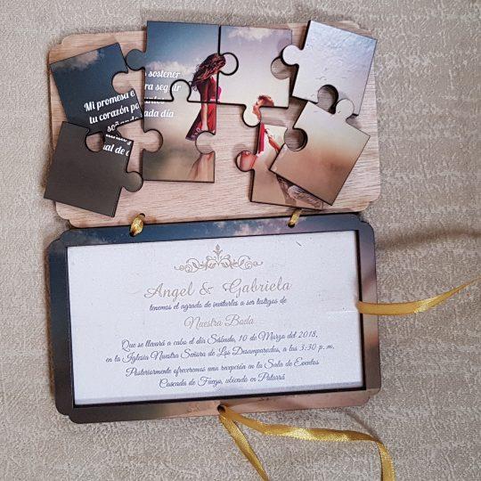 Invitación Rompecabezas Book